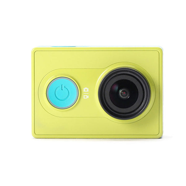 XiaoYi 1080p Outdoor Sport Microsd TF Memory Card Cam Wifi Remote Control Cameras With Waterproof Shell Yellow green