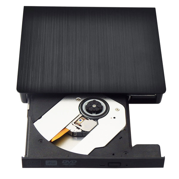 USB 3.0 DVD-RW Driver Portable External Optical Drive CD DVD RW ROM Player for Laptop Computer Black