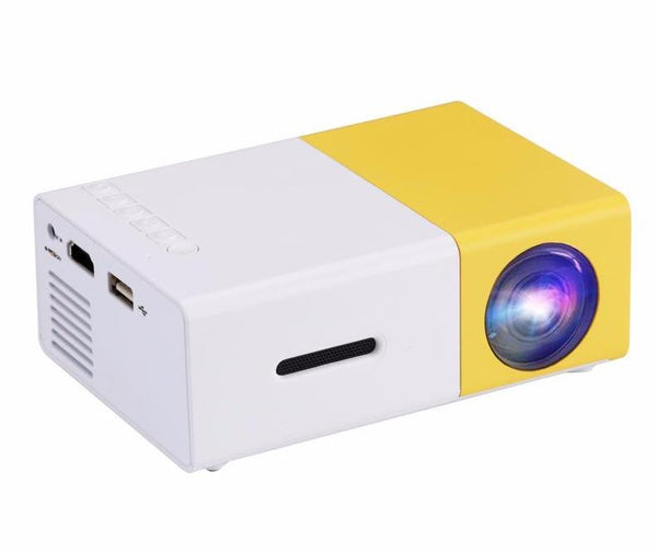 Mini LED Projector - 60 Lumen, Manual Focus, 24W LED, 60-Inch Image Size, DLP Technology, RGB LED Light Source