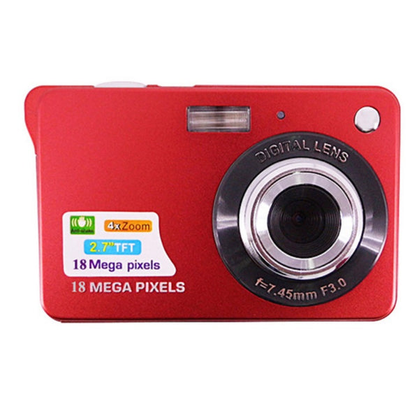 Portable 18 Megapixels Digital Video Camera 2.7'' TFT Display Digital Zoom Video Camera - Red