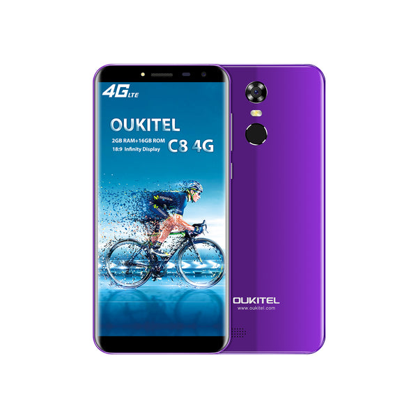 OUKITEL C8 5.5 Inch MT6737 Android 7.0 4G Smart Phone (Purple)