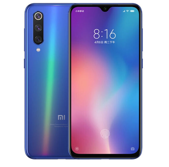 Xiaomi Mi 9 Chinese OTA Version 8GB RAM 128GB ROM Mobile Phone Snapdragon 855 Octa Core 6.39 Inch Full Screen Smartphone Blue