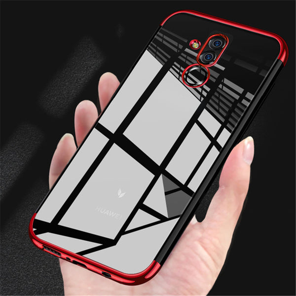 Bakeey Transparent Plating Shockproof Back Cover Protective Case for Huawei Mate 20 Lite