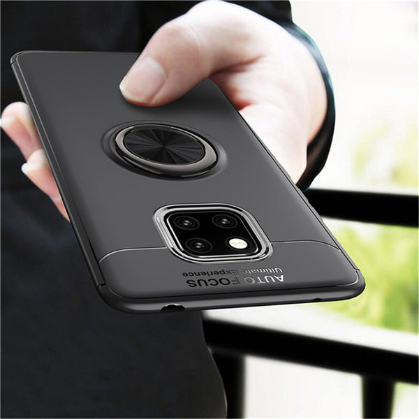 Bakeey Shockproof TPU Back Cover Protective Case with Finger Ring Holder for Huawei Mate 20 Pro