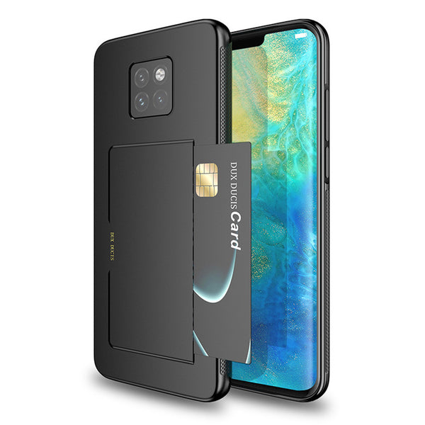 DUX DUCIS Shockproof Anti-slip Card Slot Holder Back Cover Protective Case for Huawei Mate 20 Pro