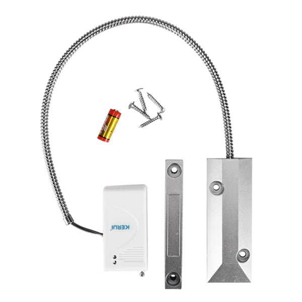 Kerui D021 Wireless Garage Magnetic Door Sensor 433Mhz With Alloy Roller Rolling Gate Reed Switch