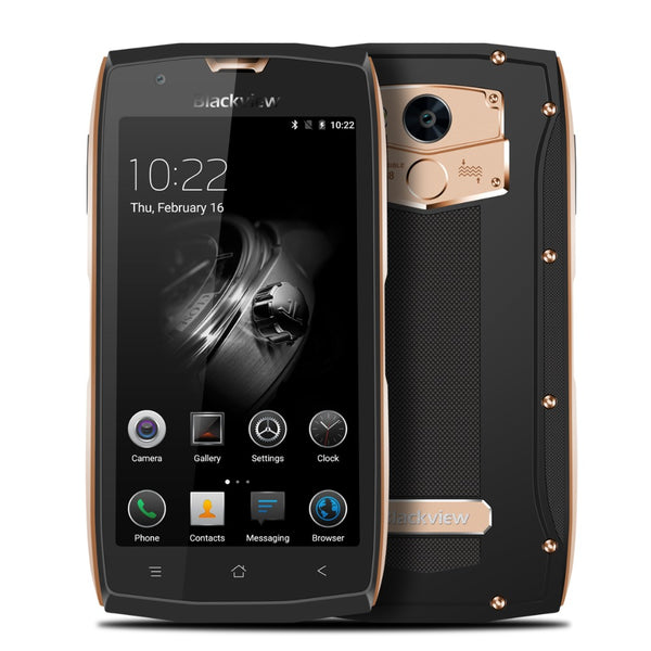Blackview BV7000 4G Smartphone - IP68 Waterproof, MT6737 Quad Core, 2GB RAM 16GB ROM, 5-Inch, Dual SIM Cards - Gold