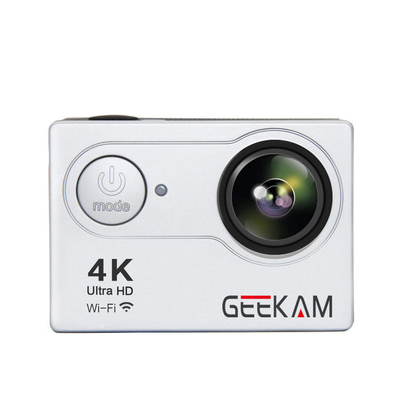 GEEKAM4K H9R 1080P Action Sport Camcorder Outdoor Camera 4K Mini Underwater Motion DV HD WIFI Digital Camera Silver