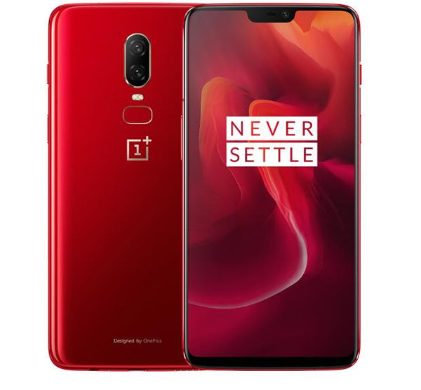 Oneplus 6 4G LTE Smartphone - 8GB RAM 128GB ROM, 6.28 inch, Snapdragon 845, Android 8.1 20MP 16MP NFC - Red, US PLUG