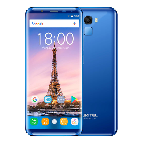 OUKITEL K5000 5.7 Inch MT6750T 18:9 Display Aspect Ratio 4 + 64GB Blue Smart Phone