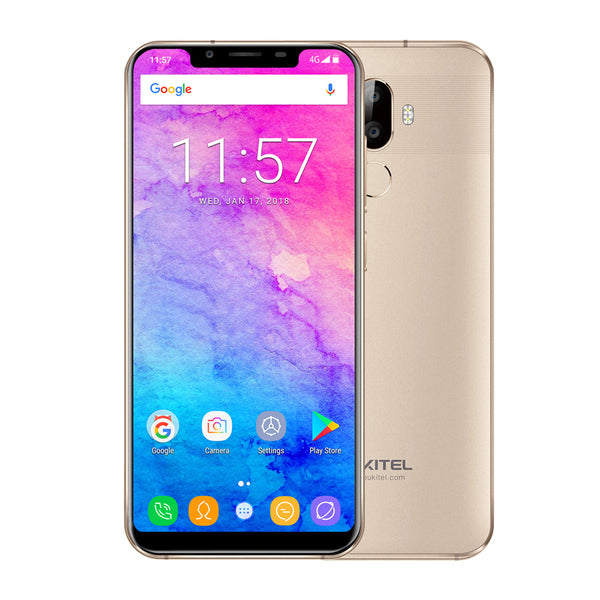 OUKITEL U18 5.8 Inch 4G RAM 64G ROM Face ID Fingerprint Android 7.0 Smartphone Gold