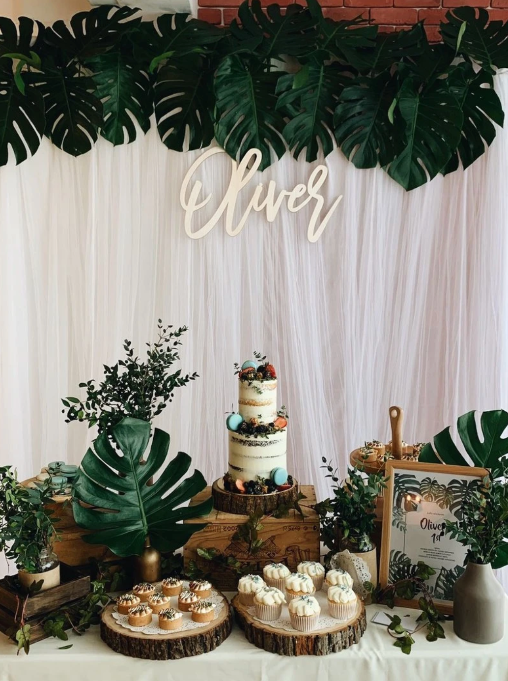 Rustic Forest Theme Dessert Table
