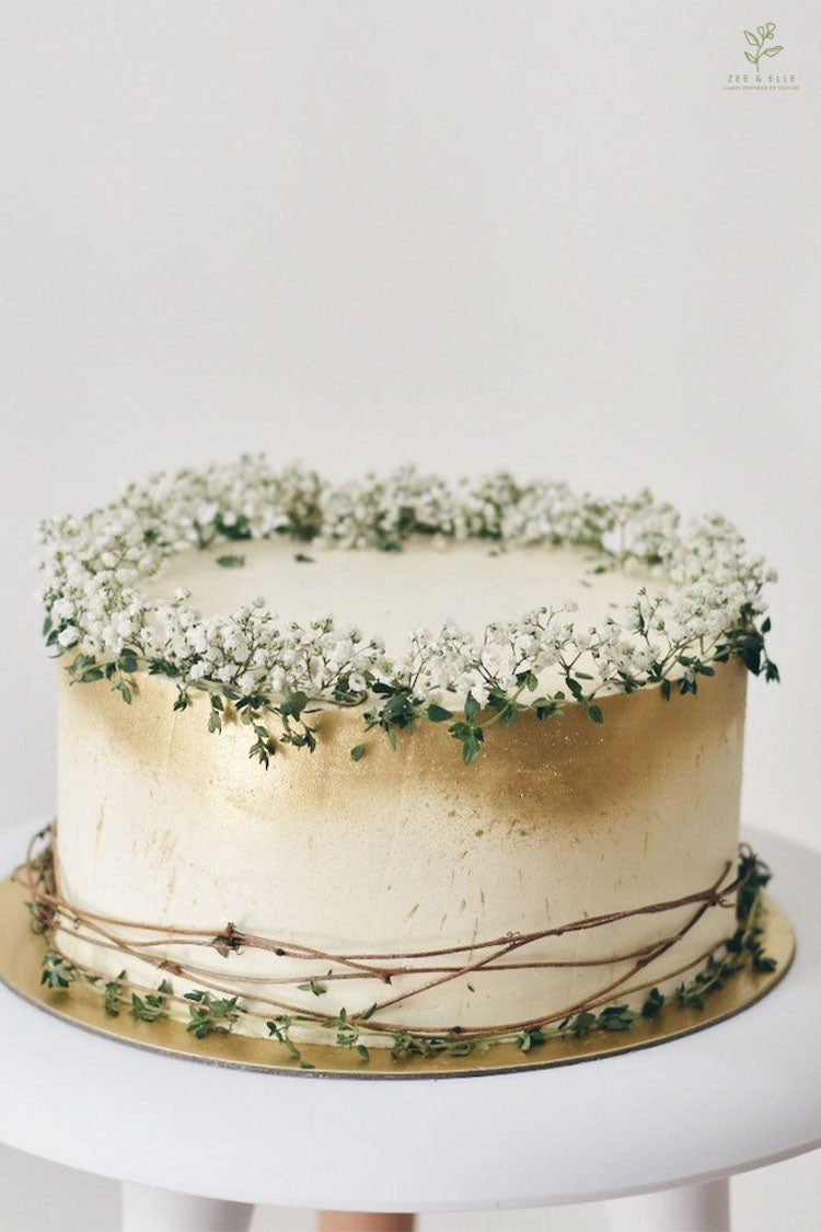 Baby Breath Cake From an Online Cake Shop