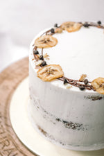 Banana Chocolate Chip Nutella Birthday Cake - Cakes. Sweets. Dessert Bars- Zee & Elle