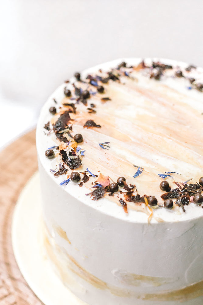 Chocolate Sea Salt Caramel Birthday Cake - Cakes. Sweets. Dessert Bars- Zee & Elle