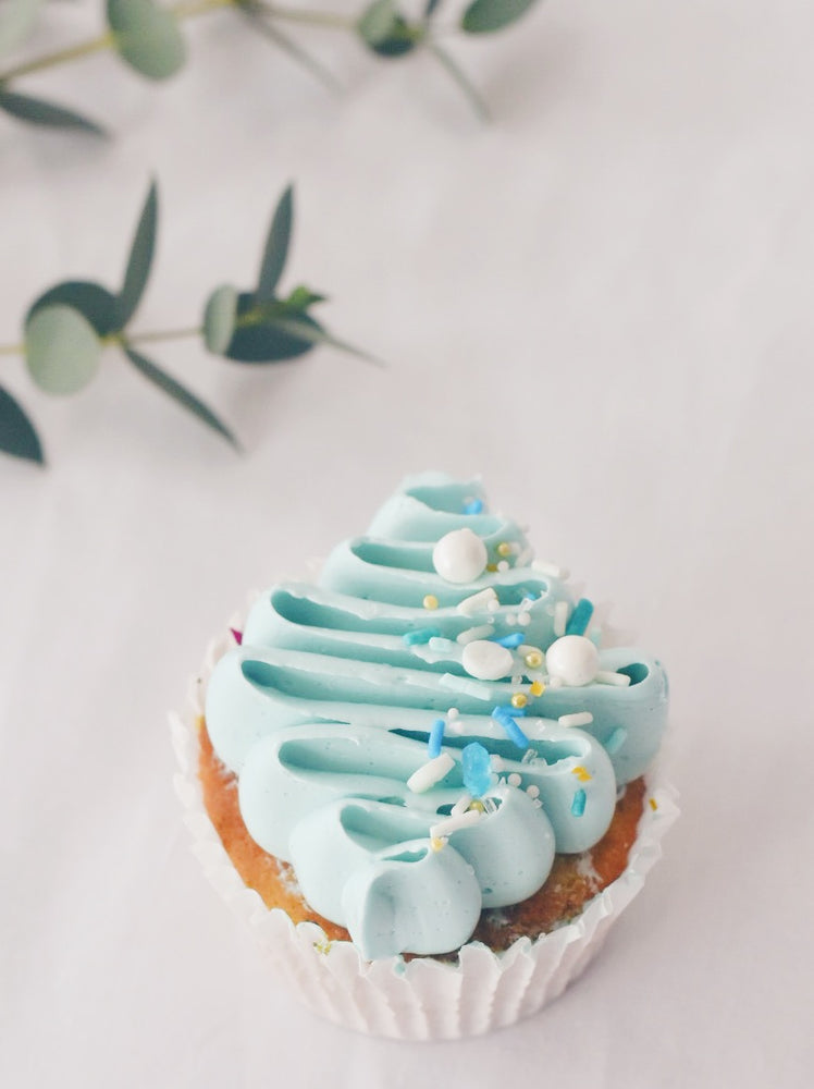 Nude Blue Sprinkle Cupcakes Box of 12