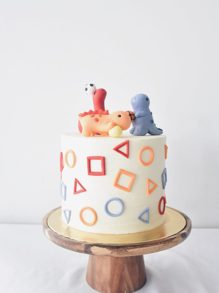 'Abstract Shapes Dino' Cake Singapore - Zee & Elle