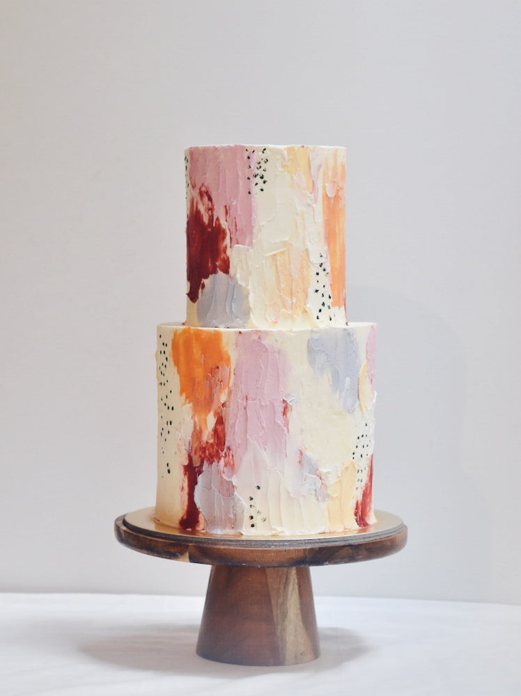 Abstract Painting Cake