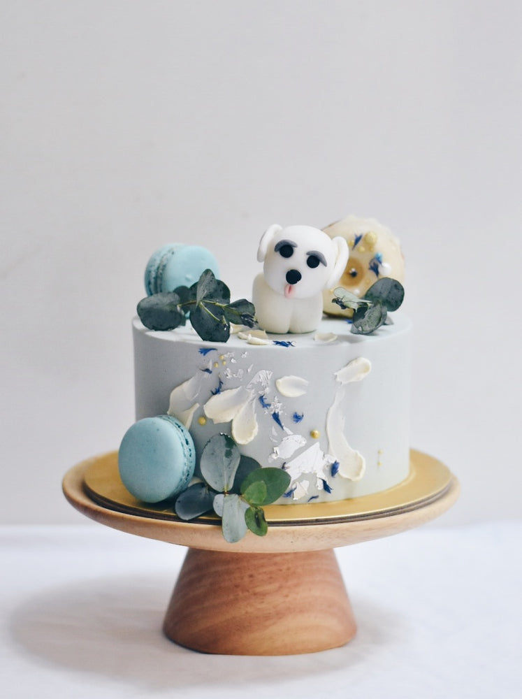 Abstract Petal Dog Cake