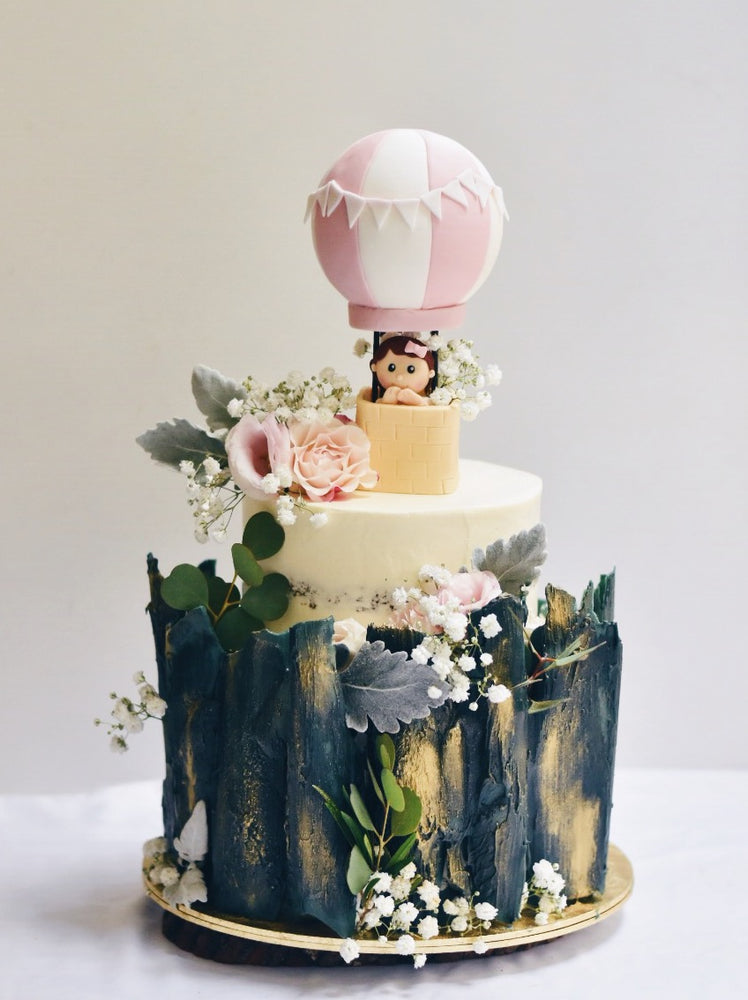 Online Hot Air Balloon Forest Wood Cake | Cakes. Sweets. Dessert Bars- Zee & Elle