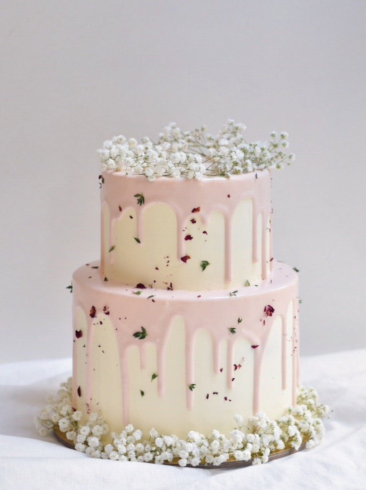 Customised Babybreath Petal Drip Cake - Cakes. Sweets. Dessert Bars- Zee & Elle