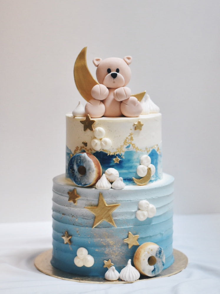 Online Bear in a Night Sky Cake - Cakes. Sweets. Dessert Bars- Zee & Elle