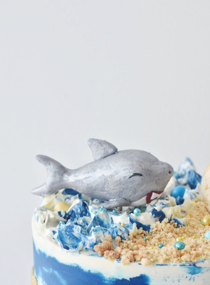 Blue Watercolour Shark Cake Singapore - Zee & Elle