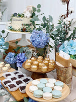 Blue Floral Petite Dessert Table (For 20-30 pax)