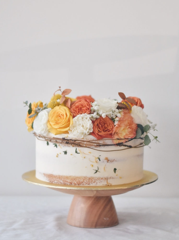 Online Burnt Orange Wreath Cake |  Cakes. Sweets. Dessert Bars- Zee & Elle