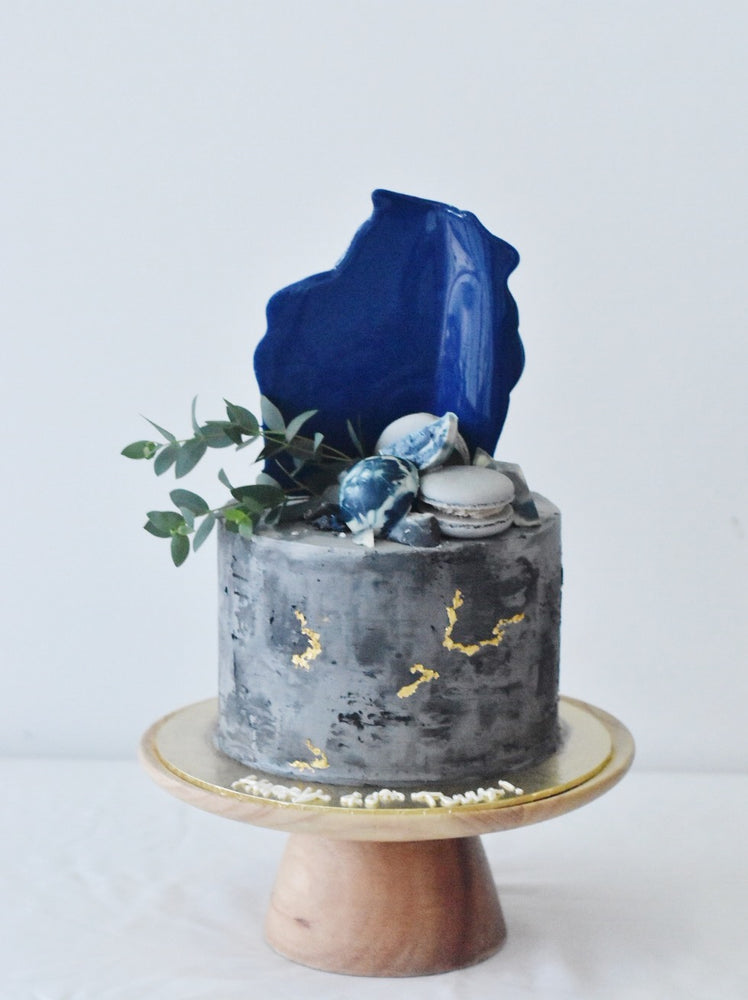 Royal Blue Concrete Cake