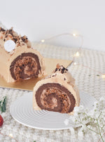Chocolate Hazelnut Praline Log Cake | Zee & Elle Singapore