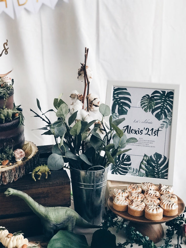 Dinosaur Themed Dessert Table - Cakes. Sweets. Dessert Bars- Zee & Elle