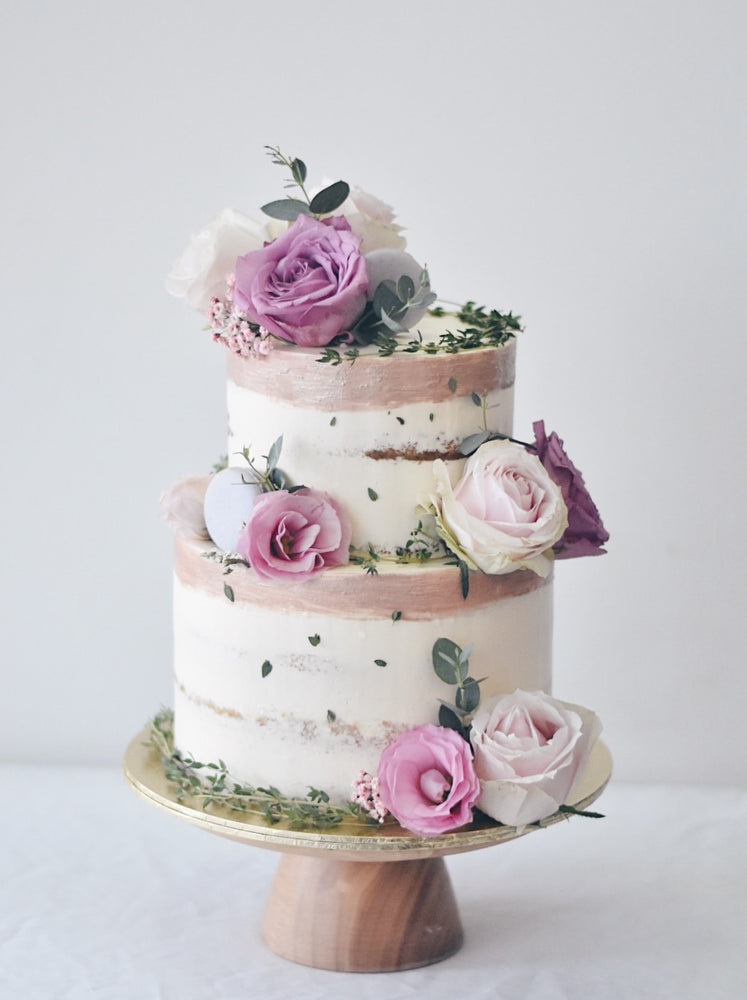 Online Dusty Purple Garden Cake |  Cakes. Sweets. Dessert Bars- Zee & Elle