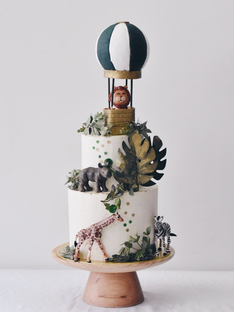 Online Emerald Hot air Balloon Safari Cake | Cakes. Sweets. Dessert Bars- Zee & Elle