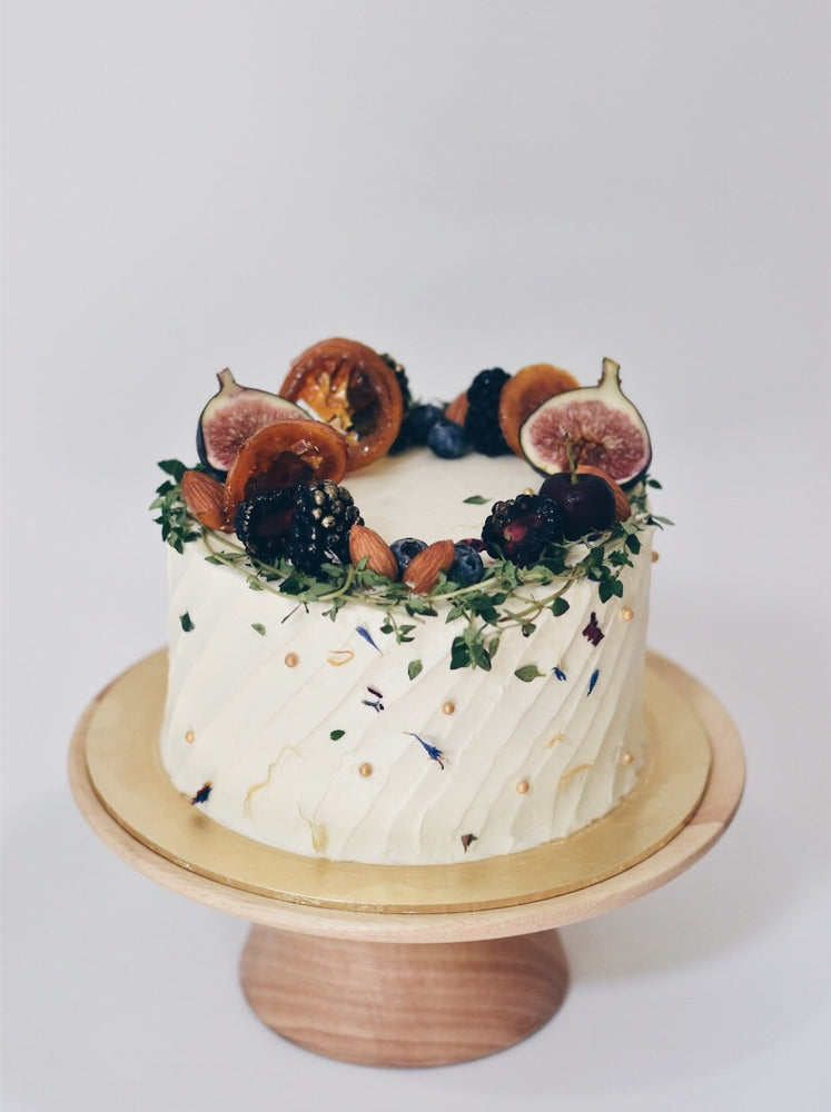 Customised Online Rustic Fruit Wreath Birthday Cake - Cakes. Sweets. Dessert Bars- Zee & Elle