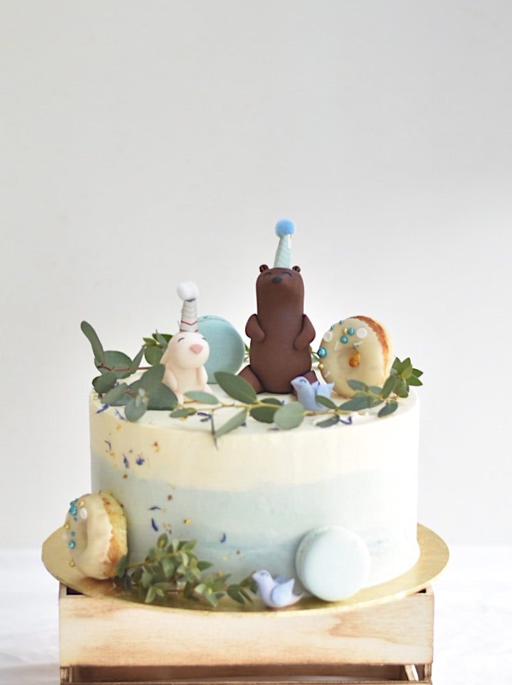 Garden Animal Party Cake (Available in Pink/Blue)