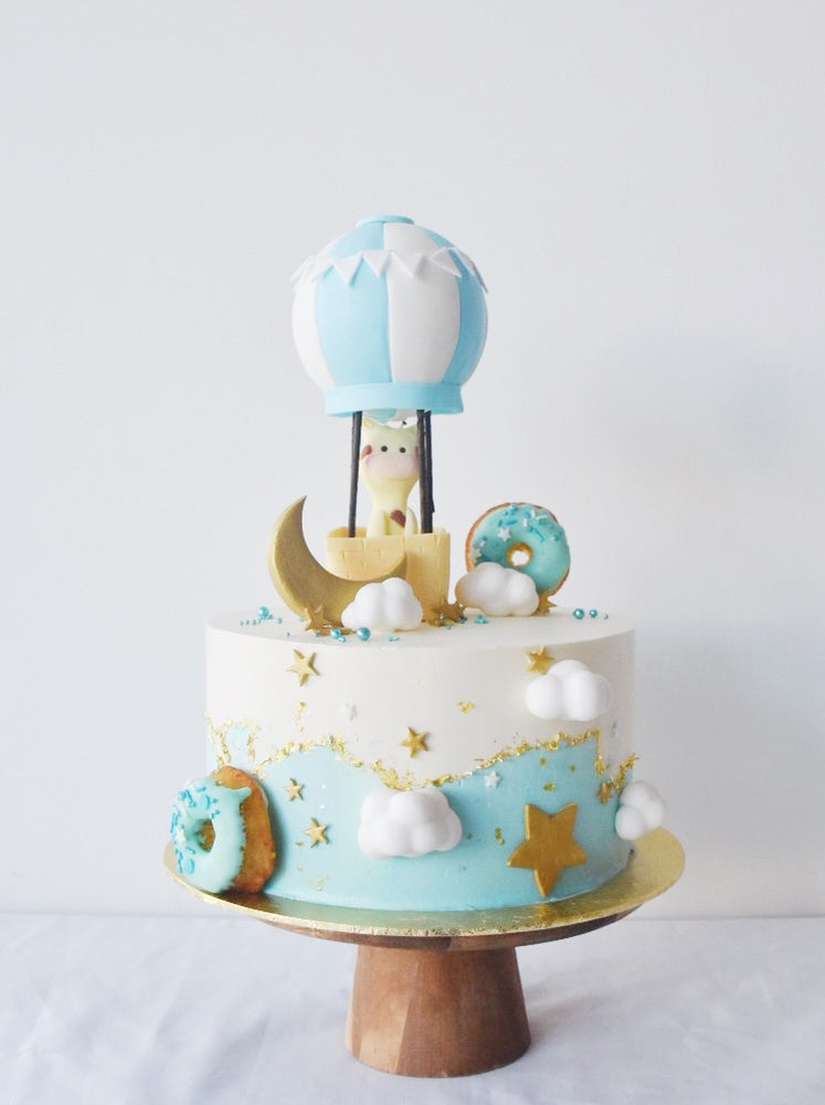 Giraffe Hot Air Balloon Cake
