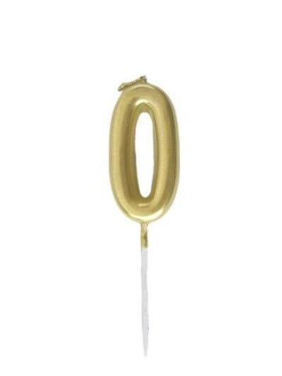 Mini Gold Candle Number 0