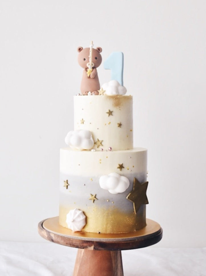 Online Grey Night Sky Bear Cake |  Cakes. Sweets. Dessert Bars- Zee & Elle