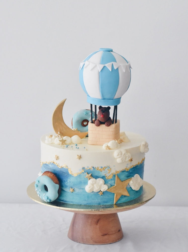 Online Hot Air Balloon 3D Themed Cake | Cakes. Sweets. Dessert Bars- Zee & Elle