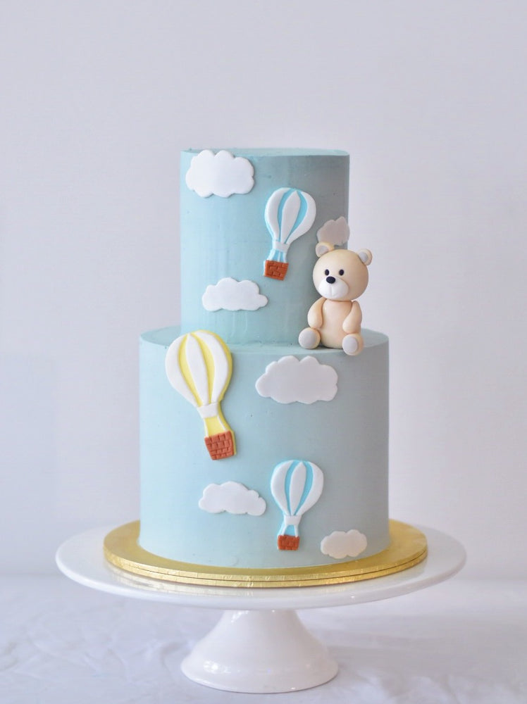 Online Minimalistic Hot Air Balloon Bear Cake - Cakes. Sweets. Dessert Bars- Zee & Elle
