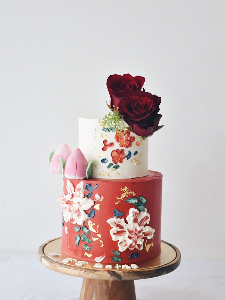 Longevity Hand Painted Cake