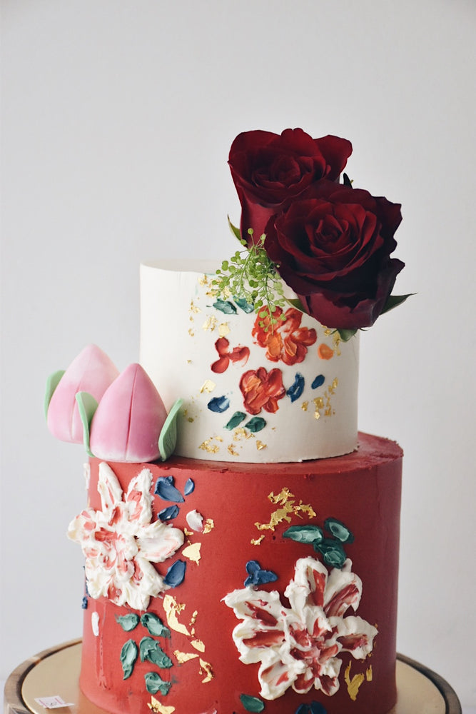 Customised Longevity Hand Painted Birthday Cake - Cakes. Sweets. Dessert Bars- Zee & Elle