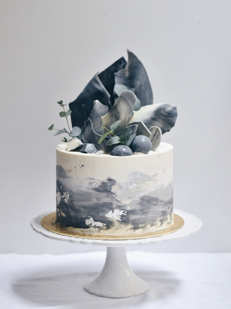 Customised Marble eucalyptus Birthday cake | Zee & Elle