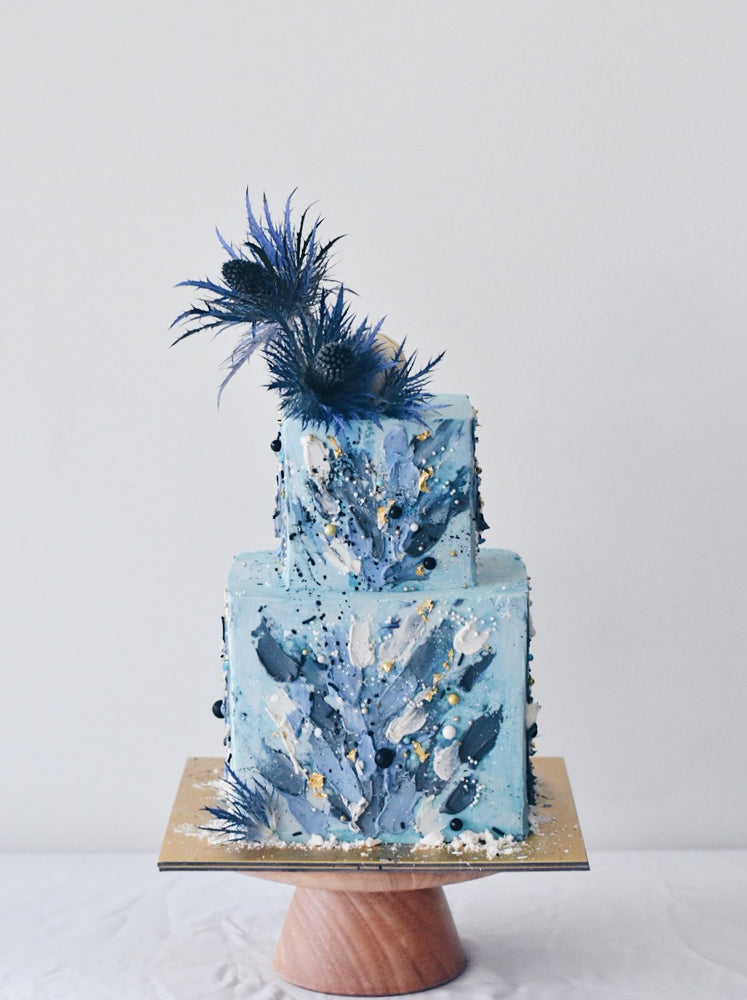 Online Marvel Shades of Blue Cake | Cakes. Sweets. Dessert Bars- Zee & Elle