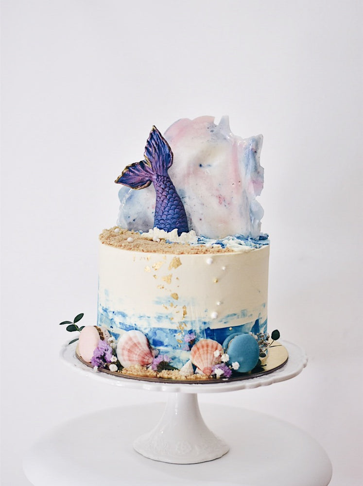 Customised Mermaid Birthday Cake - Cakes. Sweets. Dessert Bars- Zee & Elle