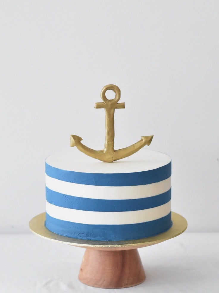 Online Nautical Anchor Cake | Cakes. Sweets. Dessert Bars- Zee & Elle