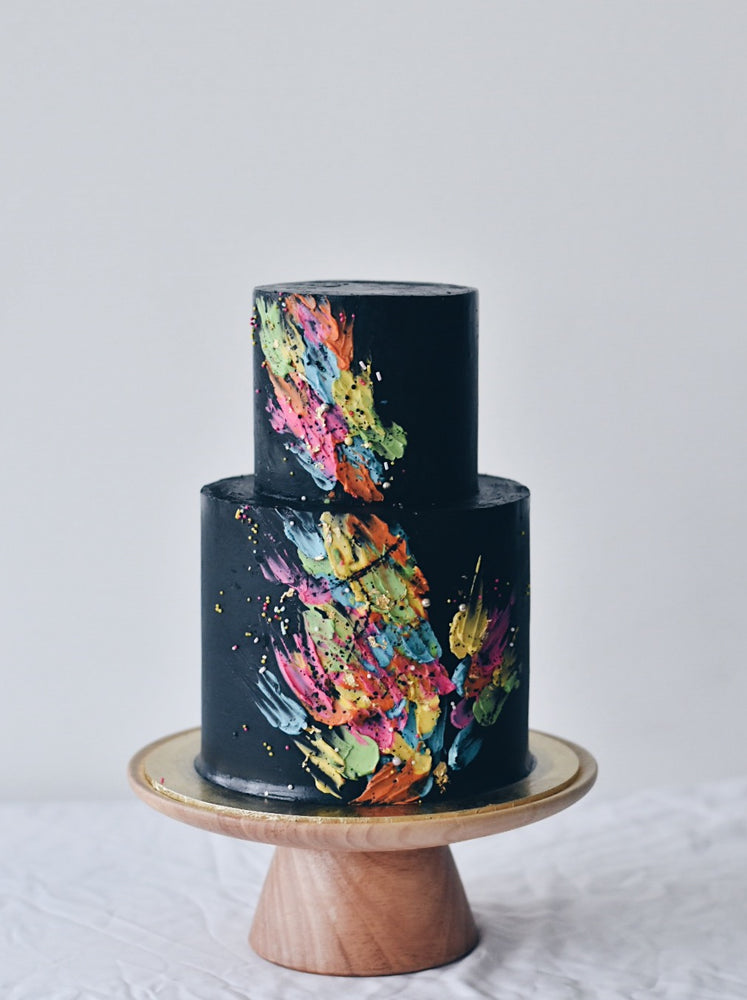 Neon Splashes Cake