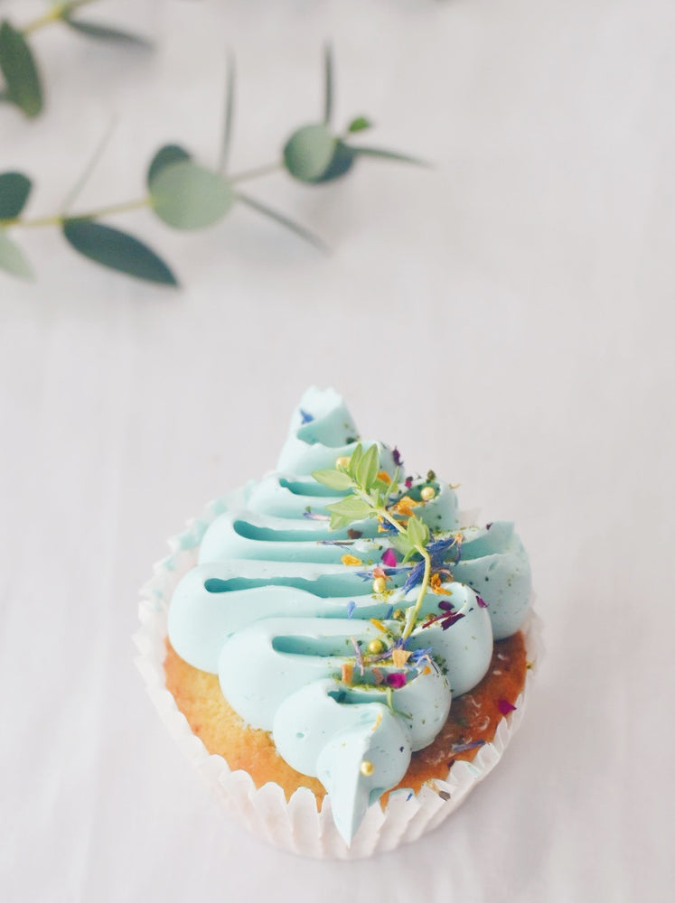 Nude Blue Rustic Cupcakes Box of 12