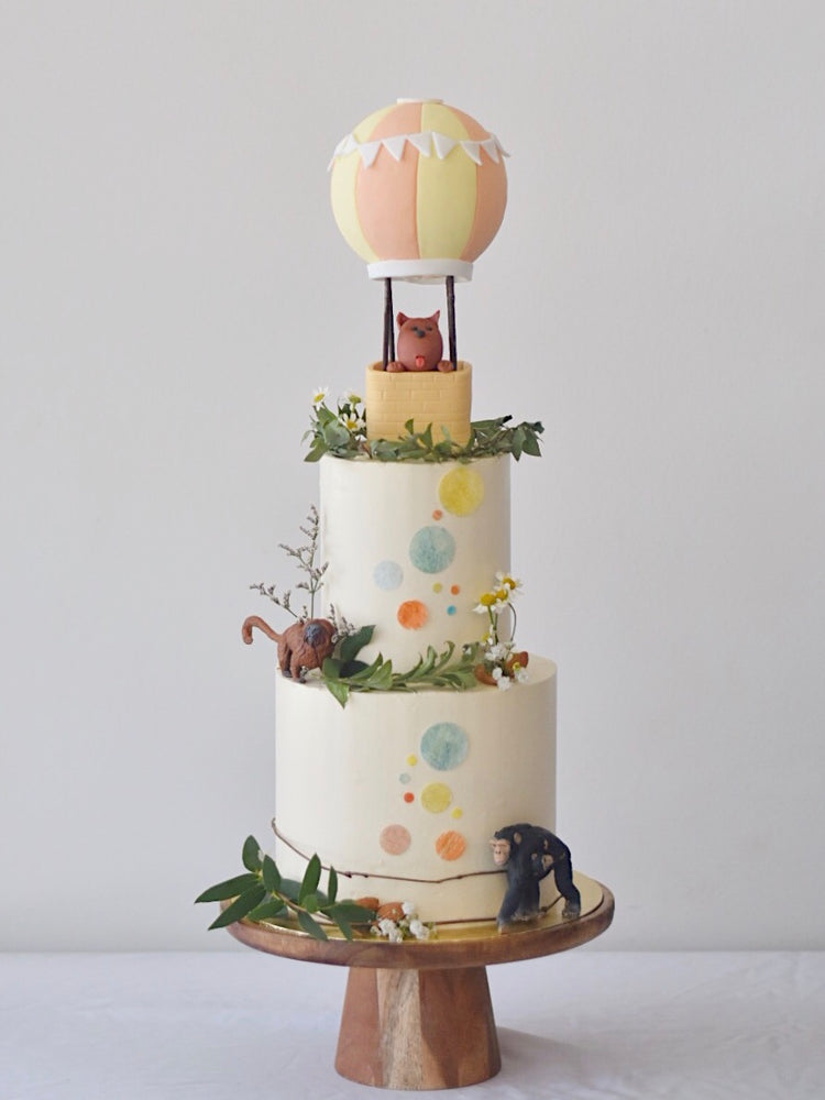 Online Pastel Hot Air Balloon Cake | Cakes. Sweets. Dessert Bars- Zee & Elle